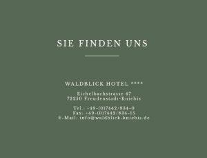 map-address Waldblick-Kniebis Hotel Freudenstadt